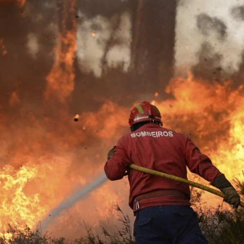 Bombeiros oliveirenses auxiliam no combate ao fogo em Pampilhosa da Serra que já mobiliza 12 meios aéreos