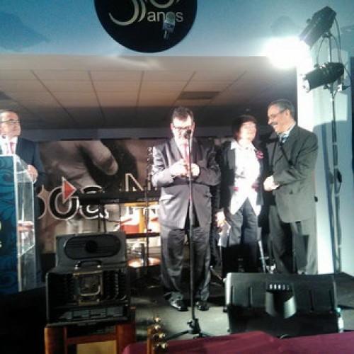 Casal de radialistas homenageado em noite de Gala da Rádio Boa Nova