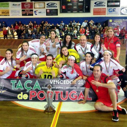 Benfica 5 – AA Coimbra 1    |  Benfica vence a Taça de Portugal – Seniores Feminino em Hóquei em Patins