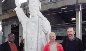 """Estátua de S. João Paulo II, o futuro padroeiro de Oliveira do Hospital, está """"quase pronta"""" (com vídeo)"""