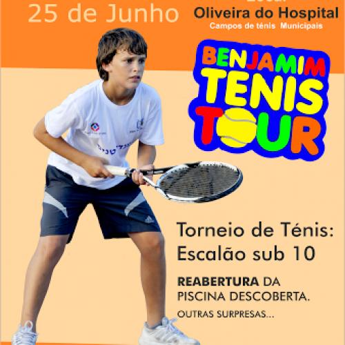 """""""Benjamim Tenis Tour"""" em Oliveira do Hospital"""