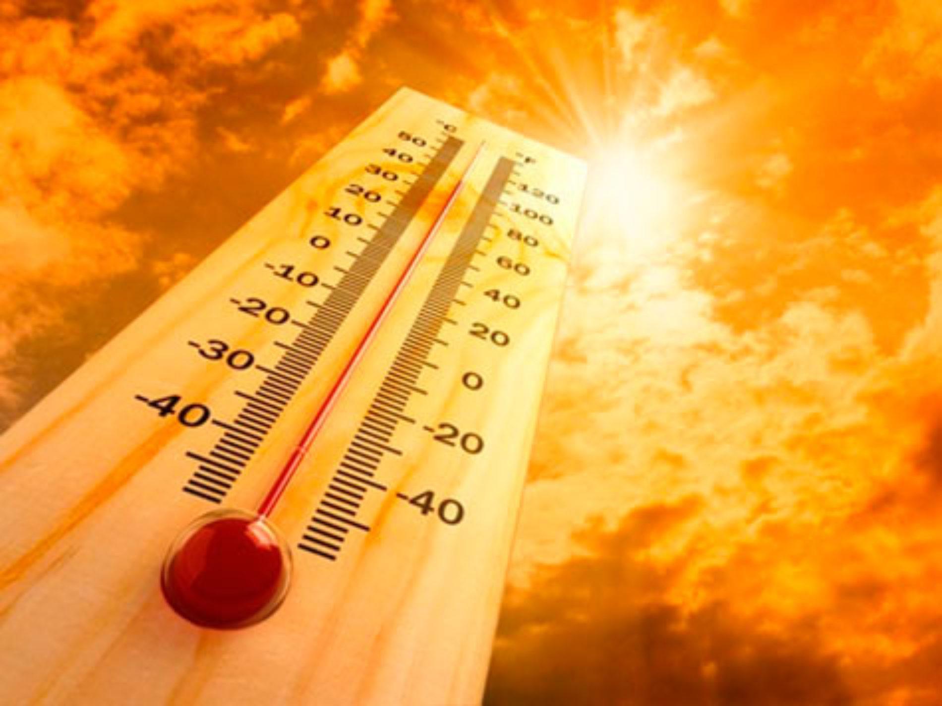 Termómetros perto dos 40 graus