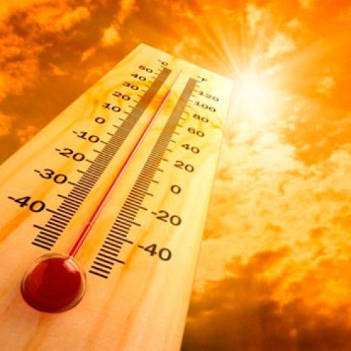 Calor coloca nove distritos em alerta laranja