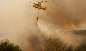 Incêndio em Póvoa de S. Cosme foi combatido por 27 bombeiros e um meio aéreo