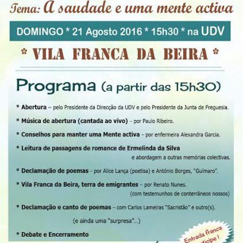 """""""VII Férias com Cultura"""" em Vila Franca da Beira, este domingo."""