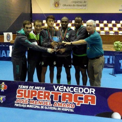 Sporting (masculinos) e Juncal (femininos) vencem Supertaça 2016 em Ténis de Mesa