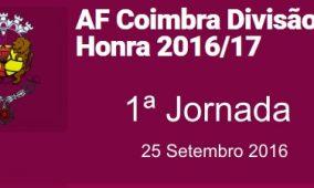 Distrital de Honra da AFCoimbra. começa este domingo