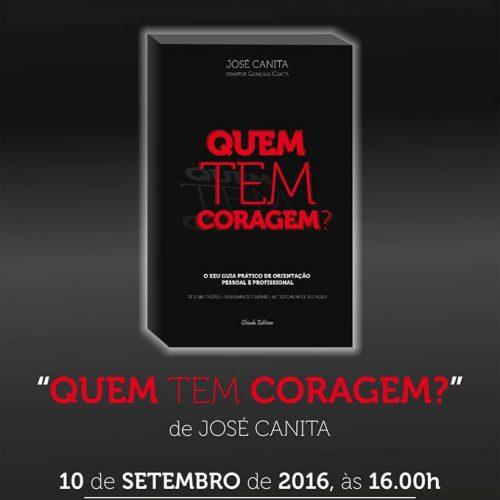 """José Canita apresenta """"Quem tem Coragem"""" na Biblioteca de Oliveira do Hospital"""