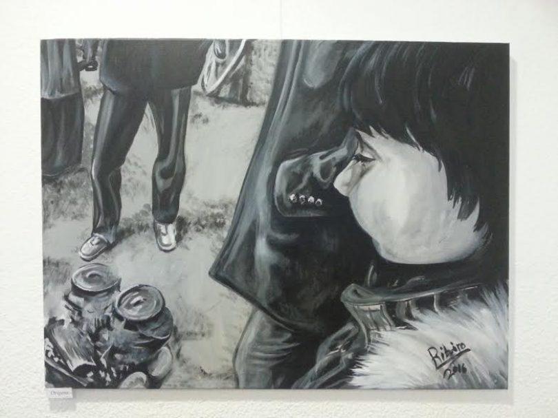 Paulo Ribeiro expõe pinturas baseadas em fotografias de Tiago Cerveira