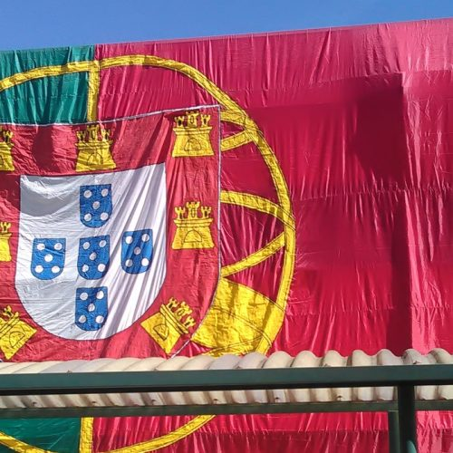Bandeira nacional gigante assinala 5 de outubro na EB1 de Oliveira do Hospital