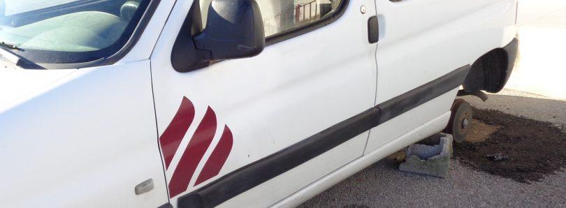 Roubaram pneus de carrinha da Cáritas em S. Paio de Gramaços