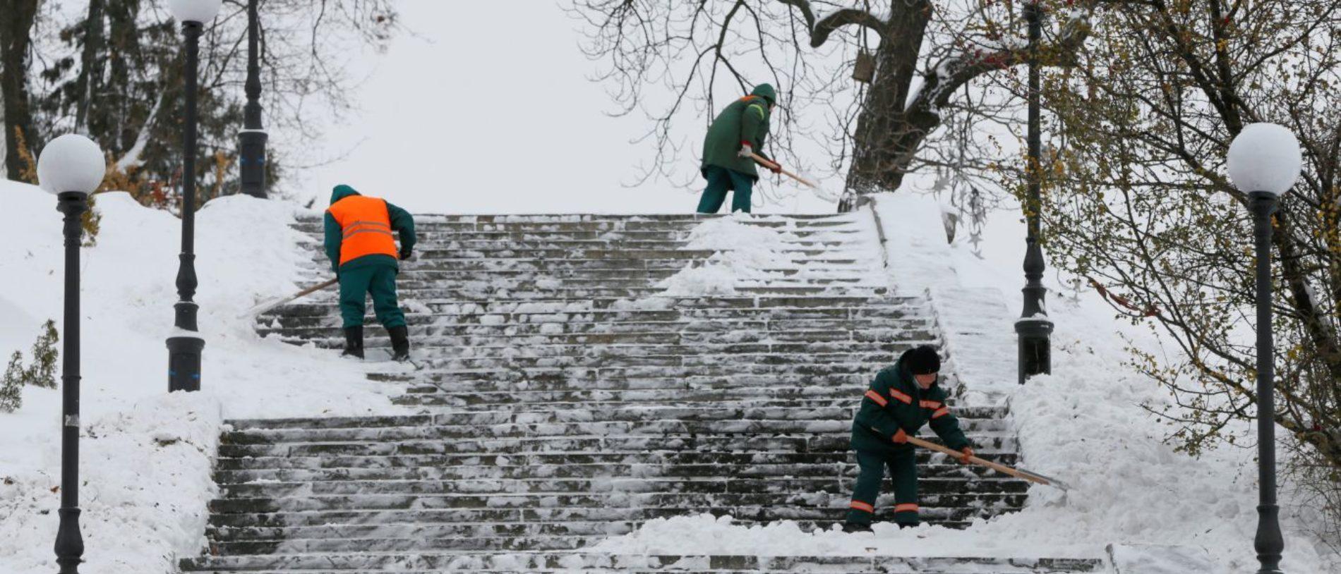 Neve na cidade da Guarda exige atenção redobrada dos condutores