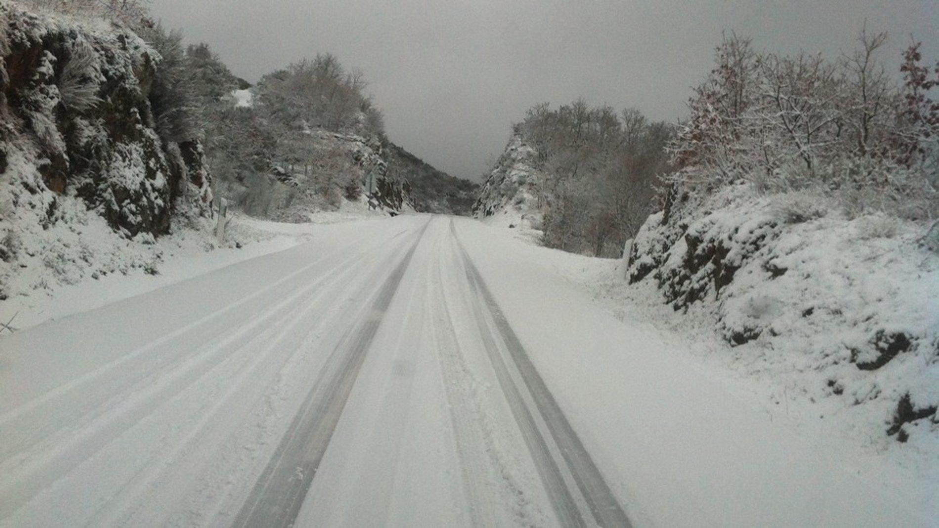 Queda de neve obrigou ao corte de duas estradas no distrito de Viseu