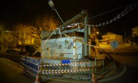 Vento forte causou estragos em S. Paio, Gouveia