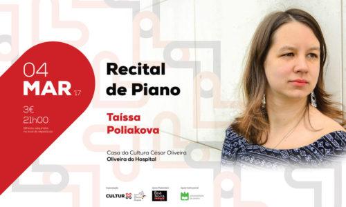 Taíssa Poliakova apresenta recital de piano em Oliveira do Hospital