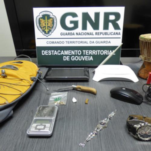 GNR recuperou objetos furtados e apreendeu estupefacientes em Oliveira do Hospital