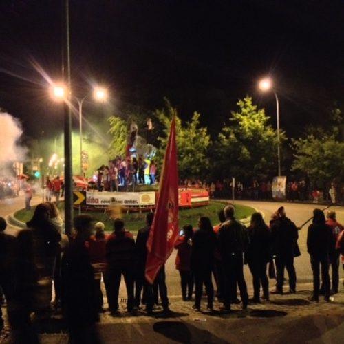 A festa dos benfiquistas em Oliveira do Hospital