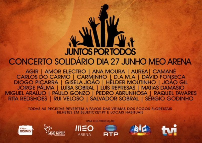 Artistas portugueses unem-se em concerto solidário para com as vítimas dos fogos florestais
