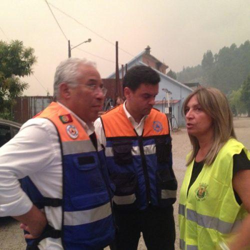 Góis: António Costa visitou a área ardida da freguesia de Alvares