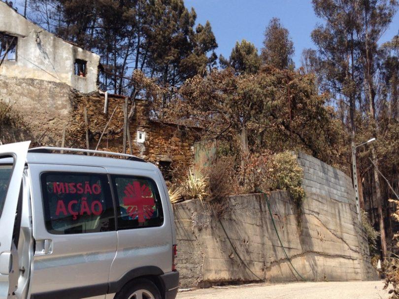 Cáritas de Coimbra entrega bens à população afetada pelos incêndios