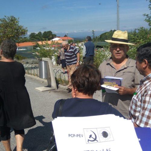 A CDU apresentou propostas para o concelho na feira de Oliveira do Hospital