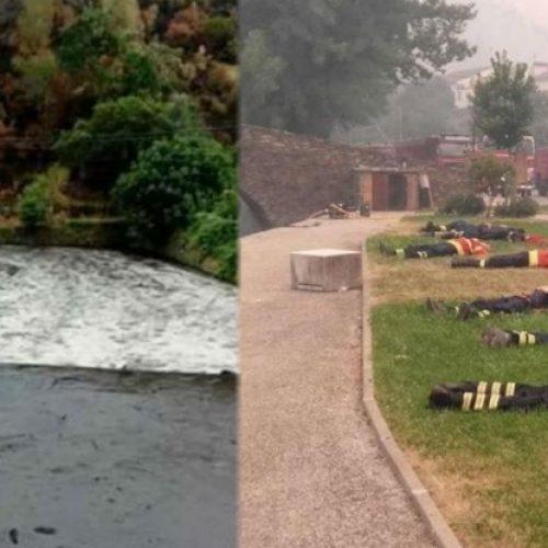 Góis: Local onde bombeiros descansaram ficou coberto de lama