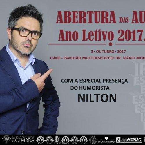 Nilton na abertura das aulas do Politécnico de Coimbra