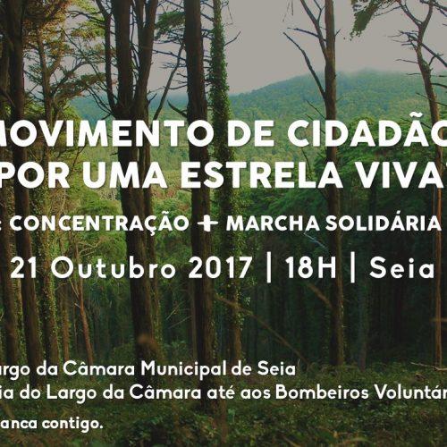 """""""Movimento de cidadãos por Uma Estrela Viva"""" em Seia"""