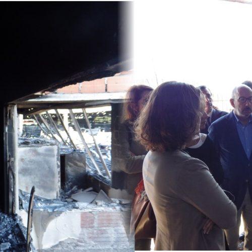 Assunção Cristas defendeu unidade de missão para reconstrução na visita a empresas devastadas pelo fogo em Oliveira do Hospital