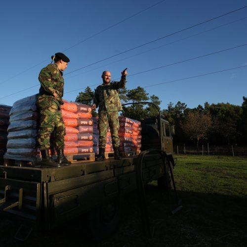 Exército começou a entregar comida aos animais em Oliveira do Hospital