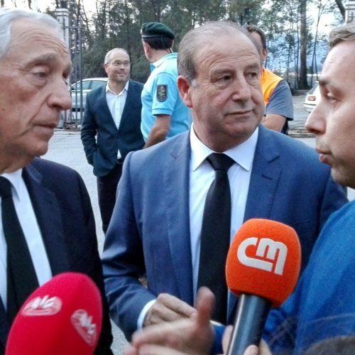 Presidente da República visitou Oliveira do Hospital por causa dos incêndios e fez comunicação ao país