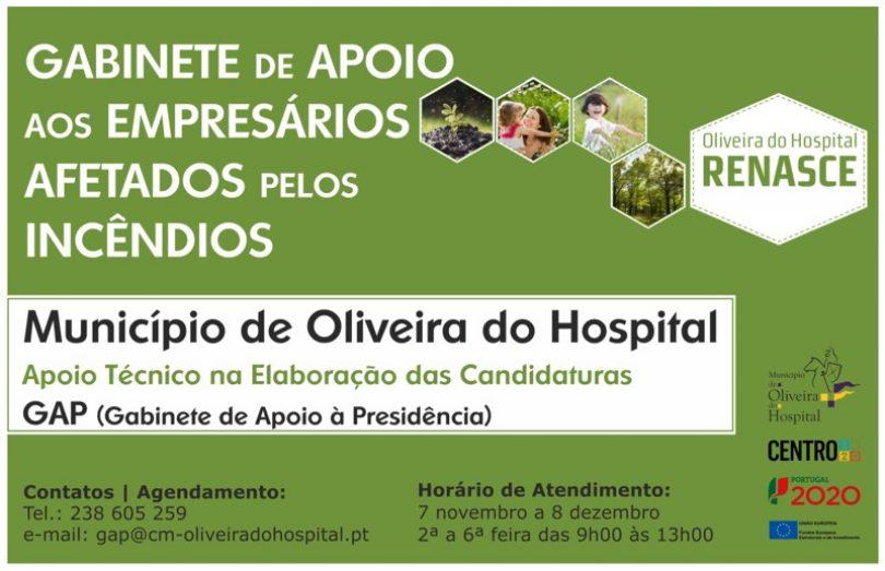 Câmara de Oliveira do Hospital cria Gabinete de Apoio aos Empresários Afetados pelos Incêndios