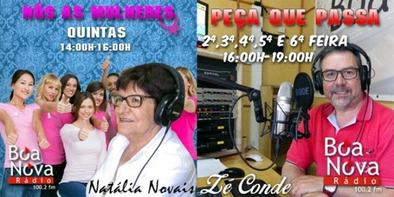 Zé Conde e Natália Novais retomam programação na Rádio Boa Nova