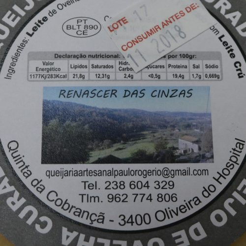 "Paulo Rogério com novo rótulo nos queijos ""Renascer das Cinzas"""