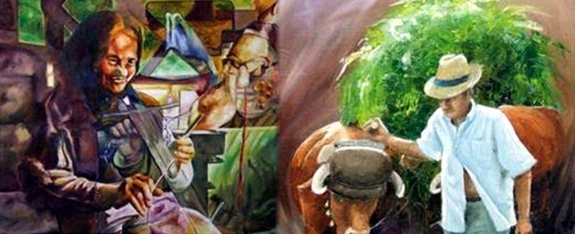 """Pintura """"Terra Que Já Foi Terra"""" em exposição em Arganil"""