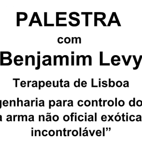 Grupo Céus Limpos organiza palestra com terapeuta Benjamim Levy