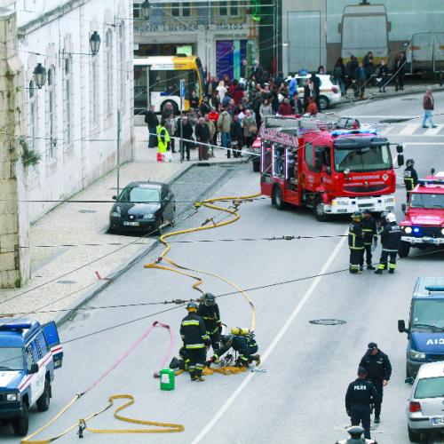 Mala abandonada em Coimbra não constituía perigo