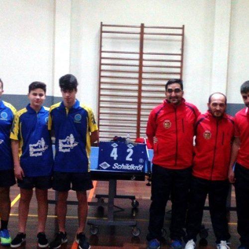 Ténis de Mesa: CCPOH começa o ano com vitória no campeonato por 4-2