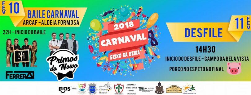 Cerca de 350 pessoas dão vida ao desfile de Carnaval em Seixo da Beira