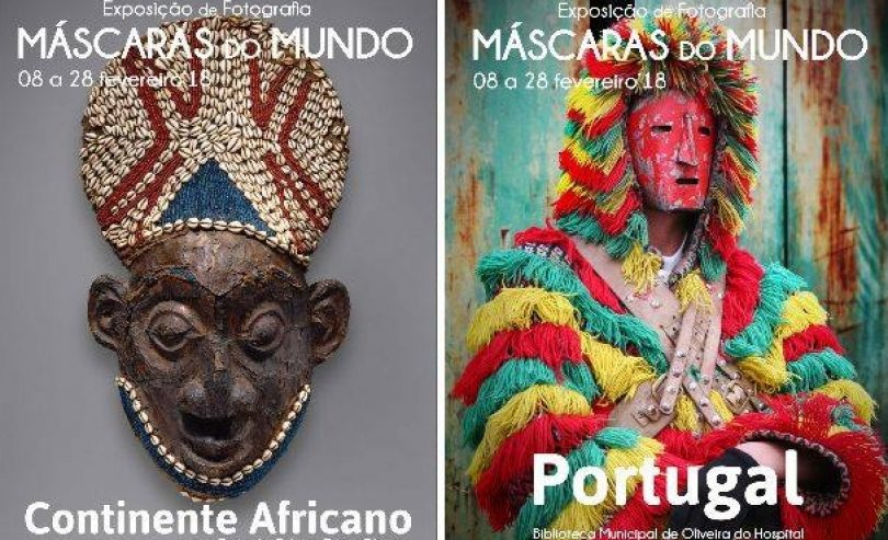 """""""Máscaras do Mundo"""" em exposição em Oliveira do Hospital"""
