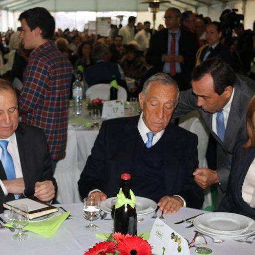 Presidente da República em almoço solidário em Oliveira do Hospital.