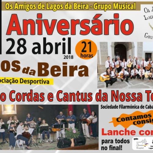 """""""Os Amigos de Lagos da Beira"""" comemoram VI aniversário com tarde musical"""