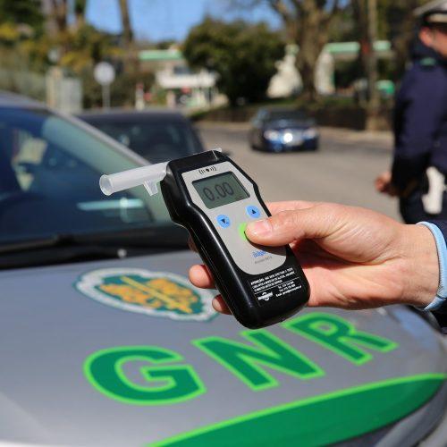 Mais de 330 condutores detidos com taxa crime de álcool e 121 sem carta