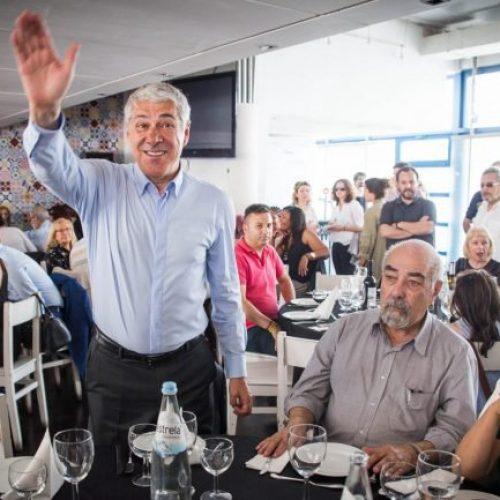 António Campos, Paulo Campos e Dulce Pássaro marcaram presença em almoço de apoio a José Sócrates