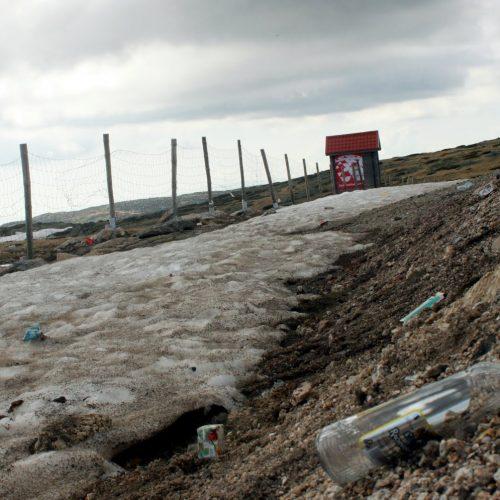 Voluntários recolhem lixo deixado durante o inverno na Serra da Estrela