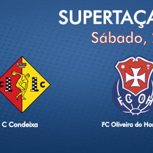 FCOH disputa Supertaça AFC frente ao Condeixa no Estádio Sérgio Conceição