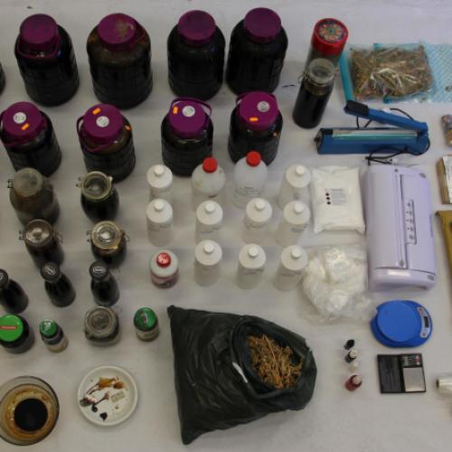 Região: PJ desmantelou unidade de produção artesanal de estupefacientes