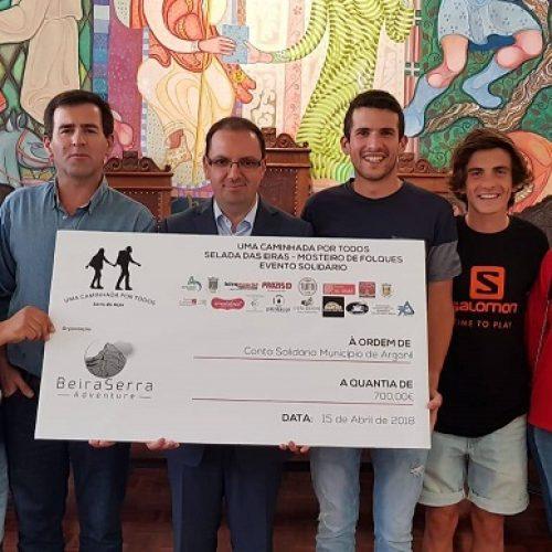 """""""Uma Caminhada por Todos"""" somou 700 euros à conta solidária do Município de Arganil"""