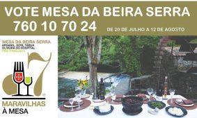 """Vote na """"Mesa da Beira Serra"""" até ao dia 12 de agosto"""