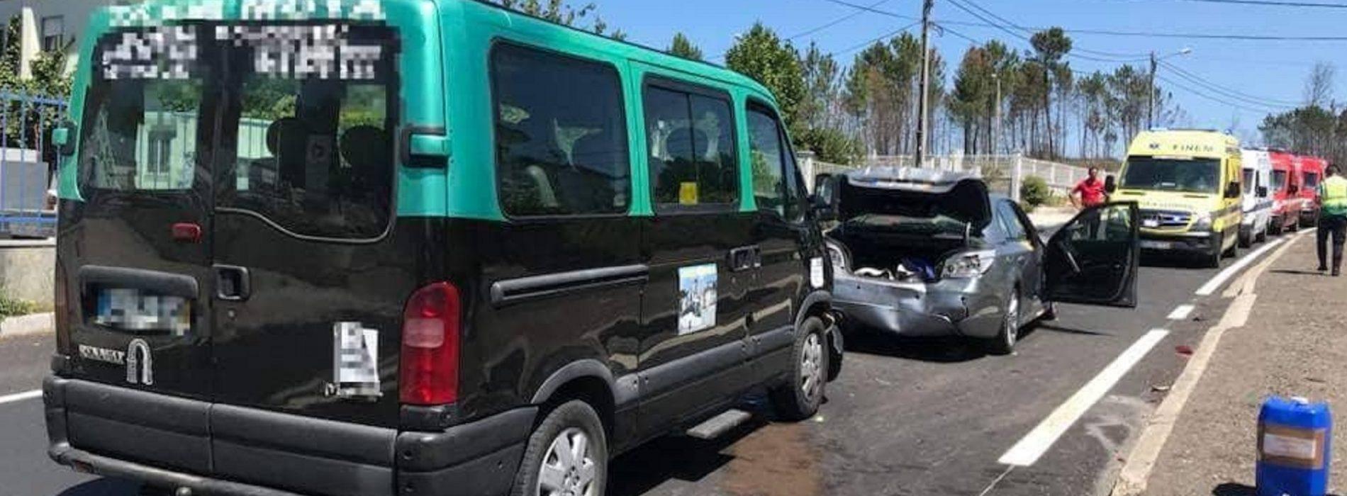 Colisão entre três viaturas provocou quatro feridos ligeiros em Oliveira do Hospital